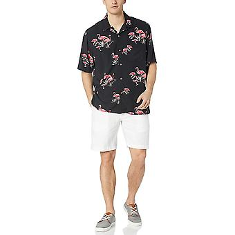 28 Palms Men's Relaxed-Fit Vintage Washed 100% Rayon Tropical Hawaiian Shirt,...