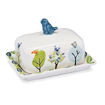 Cook Smart Butter Dish Forest Birds 1850