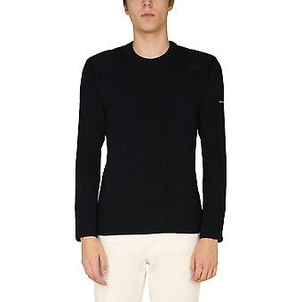 Saint James 7129cc Men's Blue Wool Sweater