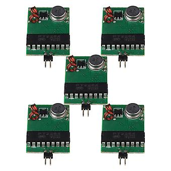 Verde Preto DC3V-12V 433MHz RF Transmissor Módulo Fixo Conjunto de Código fixo de 5