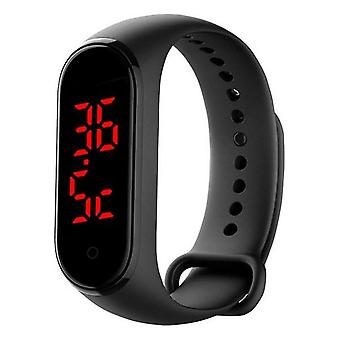 Thermomètre bracelet d'activité 90mAh Bluetooth Noir