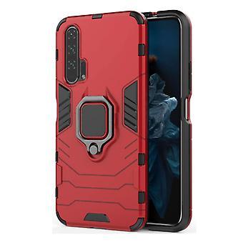Keysion Huawei Mate 20 -kotelo - Magneettisen iskunkestävä kotelon kansi Cas TPU Punainen + Jalusta