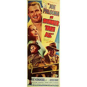 Joe Palooka i vinderen tager alle film plakat Print (27 x 40)