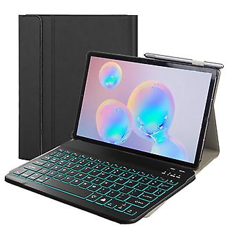 DY-M10P Lenovo Smart Tab M10 HPD Plus TB-X606F 10,3 tuumaa 2 in 1 Irrotettava Magneettinen ABS Bluetooth-näppäimistö + Suojaava nahkakotelo jalustalla &; S