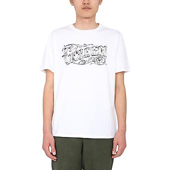 Golden Goose Gmp00447p00028410364 Hombres's camiseta de algodón blanco