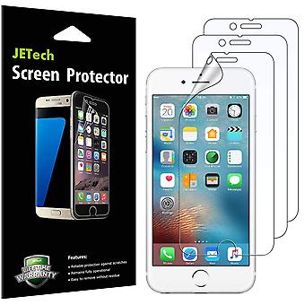 Jetech screen protector for apple iphone 6s and iphone 6, pet film, 3 pack