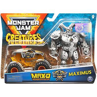 Monster Jam Creatures & Vehicle - MAX D & MAXIMUS