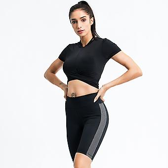 Women's Workout Outfit 2 Pieces Yoga Leggings with Sports Tops Gym Clothes Set