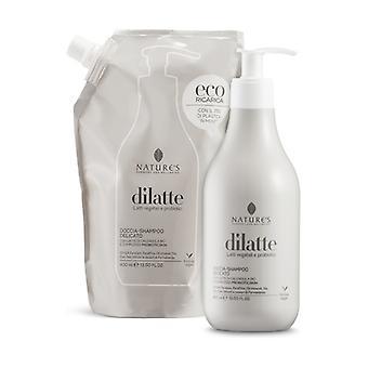 Dilatte Delicate shower-shampoo refill 400 ml