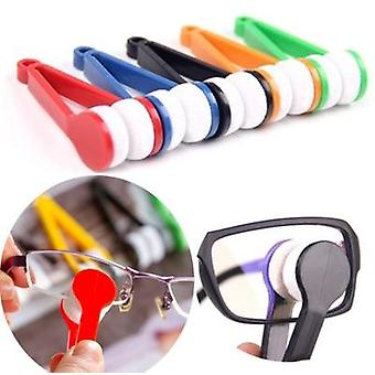 Handy Glasses Cleaner Tools Random Color Super Fine Fiber Rub Power With  Lens