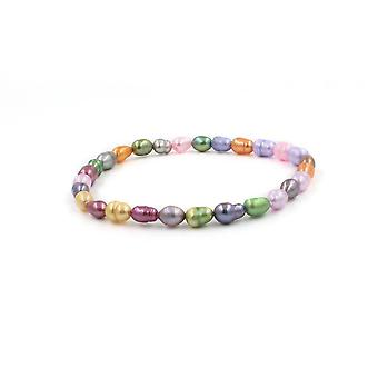 Perlen Multi-Color Pearl Stretch Armband