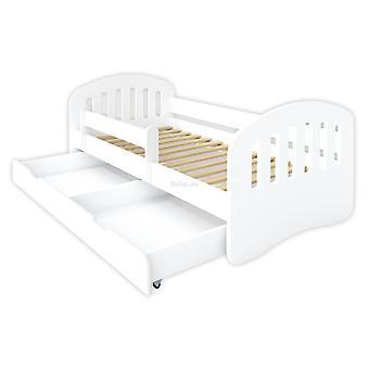 Kinderbed 160x80 wit met lattenbodem en matras