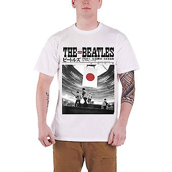 The Beatles T Shirt Live At The Budokan Japan band logo Official Mens White