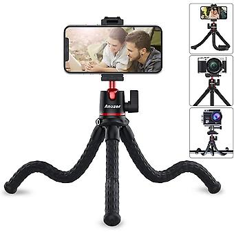 Phone Camera Tripod with Phone Holder & Cold Shoe & Gopro Mount