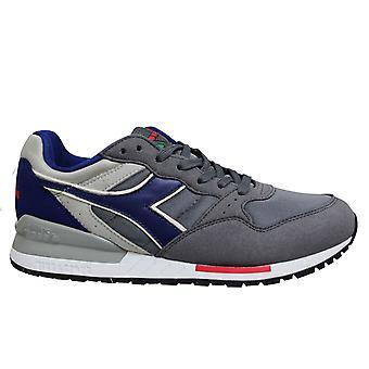 Diadora Intrepid Nylon Grey Blue Low Lace Up Mens Running Trainers C7069 B48B