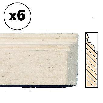 Nuket Talo Paljas Puu Jalkalista Baseboard 30cm 12