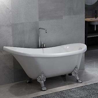 Freestanding bathtub with lion's feet White acrylic