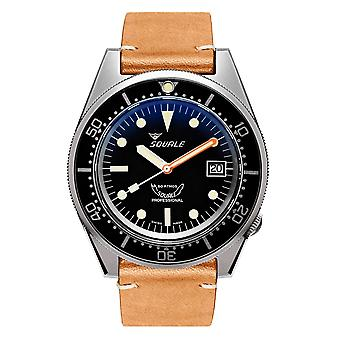Squale 1521BKBL.PC 500 Meter Swiss Automatic Dive Wristwatch Leather