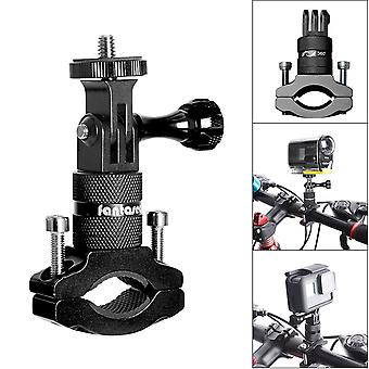 2In1 action camera bike mount, aluminum bike handlebar adapter 360 degree rotatable bicycle rack mou