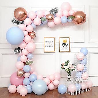 Gender reveal baby shower balloon arch decoration diy kit - includes 100+ balloons