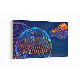 Schilderij - Artistiek badminton — 90x60cm