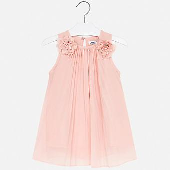 Mayoral girls peach pleated dress 3922