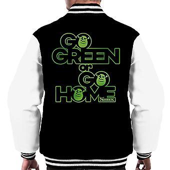 Shrek Go Green Of Go Home Men's Varsity Jacket