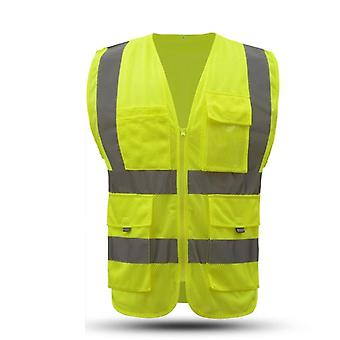 High-visibility, Waistcoat Reflective Safety Executive Vest
