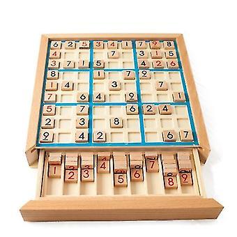Dřevěné Sudoku Devět náměstí Grid hry šachy děti&apos, s logické myšlení školení puzzle deska hra toy deska deska