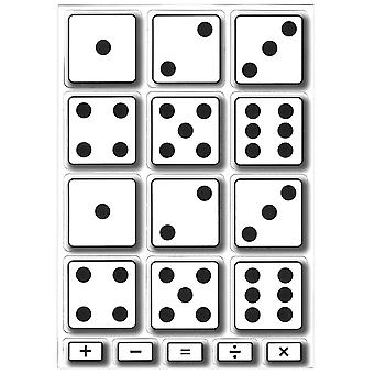 Math Die-Cut Magnets, Dice