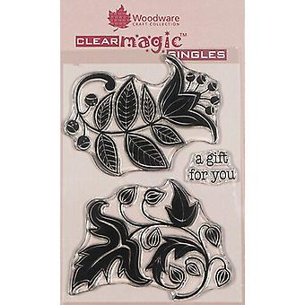 Woodware Clear Singles Solid Florals 4 in x 6 in Stempel