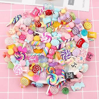 100kpl diy kristalli lima tarvikkeet puhelinkotelo sisustus värikäs candy nasta