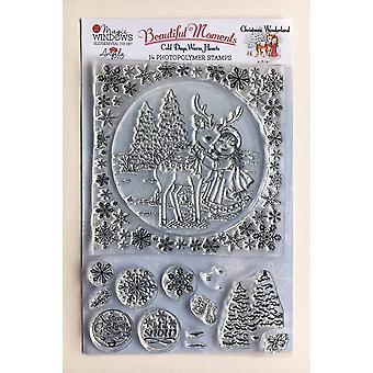 Angela Poole A5 Clear Stamp Set Christmas Wonderland