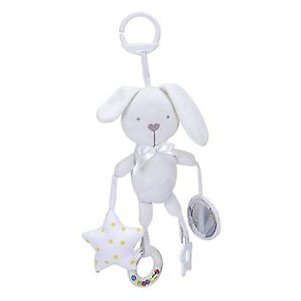 Baby Stroller Rattles With Teether Infant Crib Plush Musical Doll Hanging