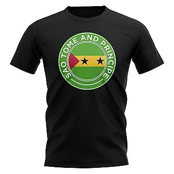Sao Tome ja Principe Jalkapallomerkki T-paita (musta)
