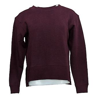 Kirkland Signature Women's Sweatshirt Fleece Crewneck Long Sleeve Purple
