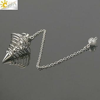 metall pendel pendel radiestesia pendel for dowsing spiral kjegle