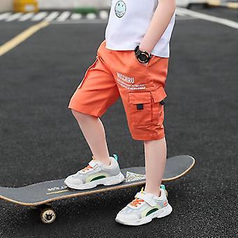 Baby Casual Tinta unita Pantaloni elastici in vita Pantaloni per bambini
