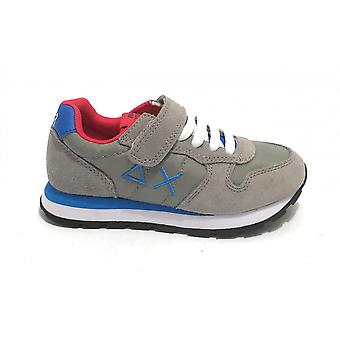 Shoes Baby Sun68 Sneaker Boy's Tom Solid Nylon Medium Grey Zs21su05 Z31301