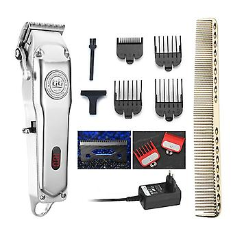 Rechargeable Hair Clipper With Guide Comb Set