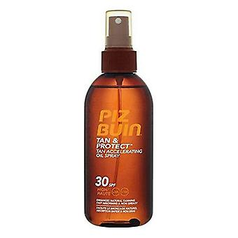 4-pack, Tan & Protect Piz Buin Spf30 sun oil (150ml x 4)