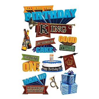 Paper House Productions - 3D Stickers - Birthday King