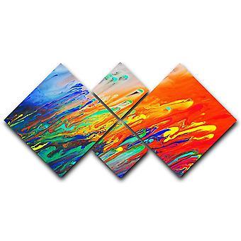 Värikäs abstrakti akryylimaalauskangas