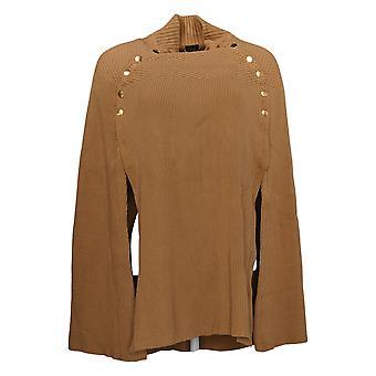 G.I.L.I. tem-se love it Women's Sweater Cape c/ Buttons Bege A368018