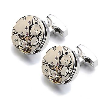 Watch Movement Cufflinks Sleeves Nails Outside Men's Shirts
