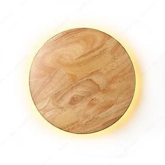 Moderni LED Puinen alkuperäisyys seinävalaistus (pyöreä)