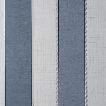 Larson Stripe Navy Silver Wallpaper