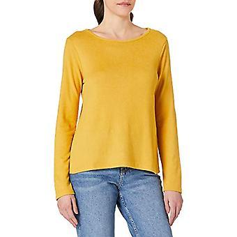 Springfield Camiseta Lace Espalda T-Shirt, Yellow/Dirty White, M Woman