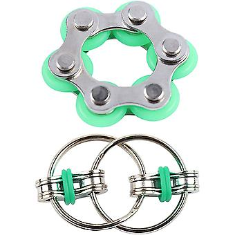 A cadeia de bicicleta de anéis de ansiedade fidget brinquedo para autismo escritório escola sensorial.