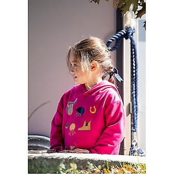 Shires Girls Tikaboo Hoodie Hooded Neck Long Sleeves Soft Fabric Casual Top